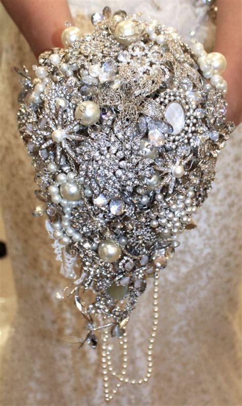 Large Trailing Wedding Brooch Bouquet Wedding By