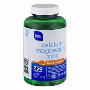 Smart Sense Calcium Magnesium Zinc Dietary Supplement Caplets