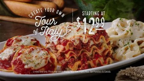 tour of italy olive garden olive garden create your own tour of italy tv