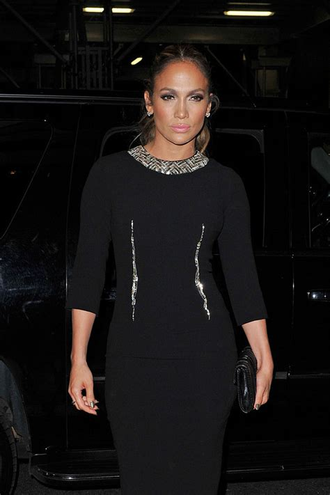 JENNIFER LOPEZ in Tight Black Dress Out for Dinner in New ...