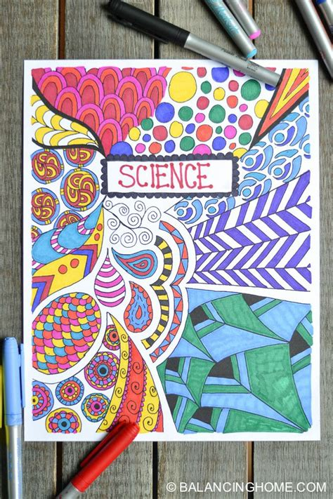 coloring page binder cover printable printable coloring