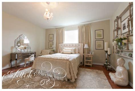 Monochromatic Bedroom by Embellish Monochromatic Bedroom