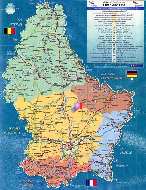 large luxembourg maps     print high