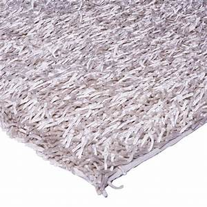 grand tapis de salon shaggy blanc 160x230cm With tapis shaggy avec canapé 1000 euros