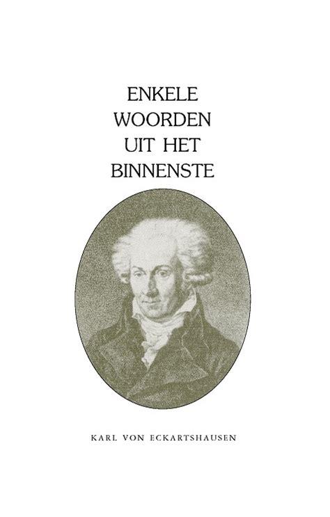 Karl Von Eckartshausen  Spirituele Teksten