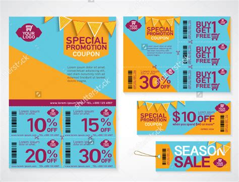 template promo code 20 coupon flyer templates free sle exle format