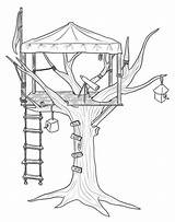 Coloring Treehouse Pages Tree Printable Colouring Observer Adult Outdoor Magic Drawing Activity Treehouses Activities Play Sheets Getcolorings Books Engraving sketch template