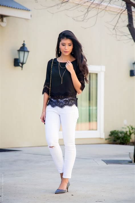 What to Wear with White Jeans - A Dressed Up Look