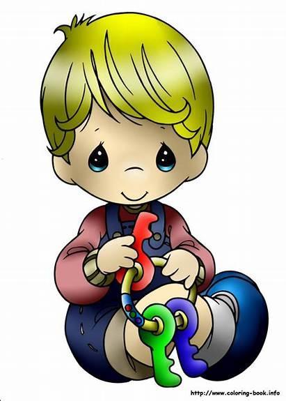 Precious Moments Boy Coloring Pages Clip Cartoon