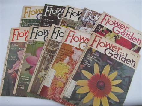 flower and garden mod vintage gardening magazines back