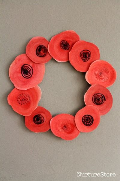 poppy wreath remembrance day craft  children nurturestore
