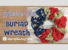 American Flag Burlap Wreath Doovi