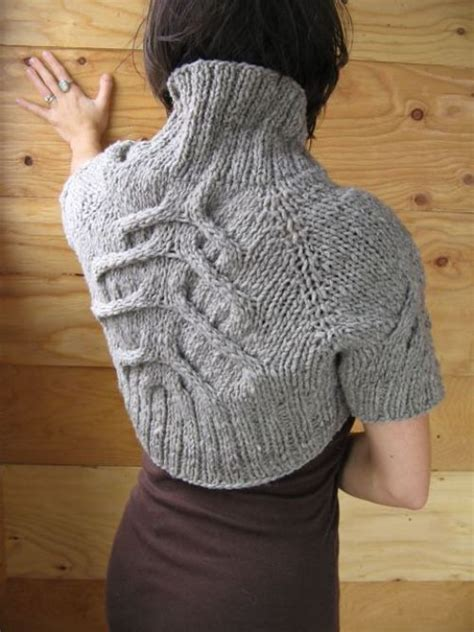 melisa rajut knit knitted shrug by halvorson the cable choice