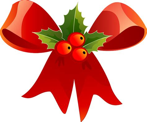 Navidad, Cinta, Rojo, Acebo, Verde