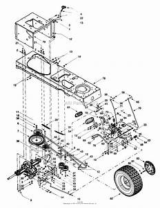Mtd 13au604h099  247 27432   1999  Parts Diagram For Frame  Wheels  Rears  Drive