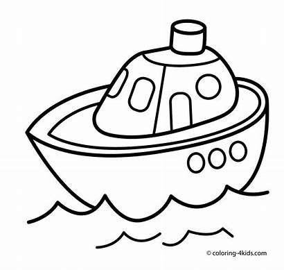 Transportation Coloring Transport Pages Ship Printable Printables