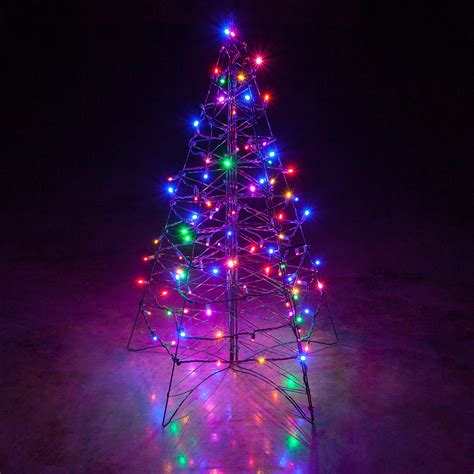 lighted christmas tree decoration lighted multicolor led outdoor christmas tree