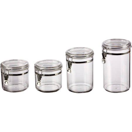 Kitchen Canister Sets Walmart by Mainstays Clear Canister Set Walmart