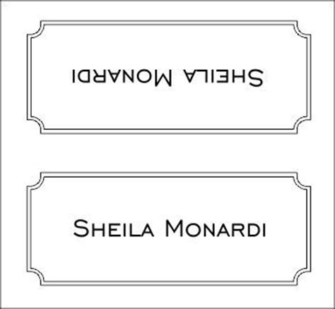 place card templates wedding   place card