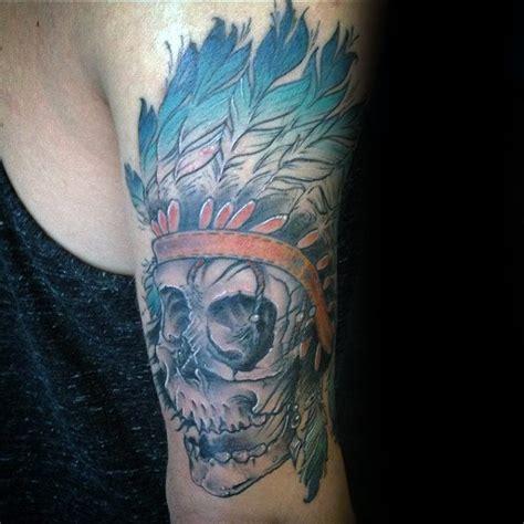 80 Indian Skull Tattoo Designs For Men - Cool Ink Ideas