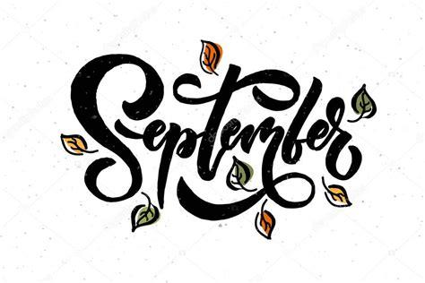 September typography | September lettering typography — Stock Vector © Svetana_Kurako #170251490