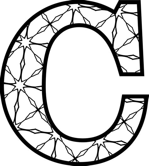 c design patterns free printable alphabet letters coloring pages