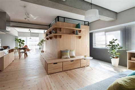 Taipei Home Showcases Asian Minimalist Influences by Fujigaoka M By Sinato Living Work Room Appartement