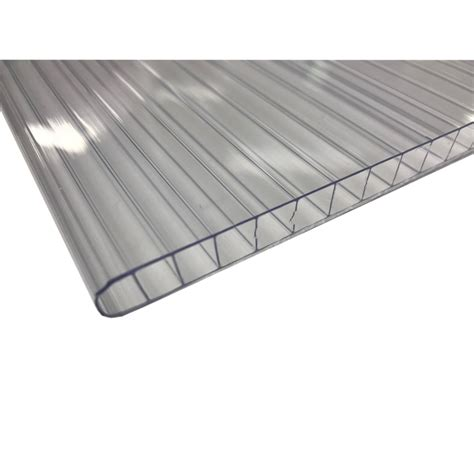 transparent patio roof sunlite10 twinwall 2 4m clear polycarbonate roofing bunnings warehouse