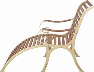 Chaise Longue Aluminium : chaise longue en bois et m tal cr me ~ Teatrodelosmanantiales.com Idées de Décoration