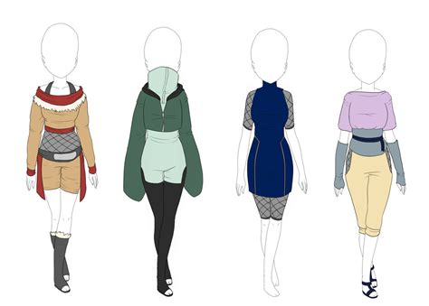 Naruto outfits Konoha clan inspired - CLOSED by Universeseed on DeviantArt