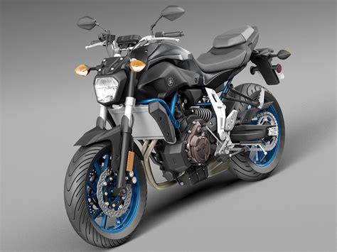 Yamaha Fz-07 2016 3d Model .max .obj .3ds .fbx .c4d .lwo