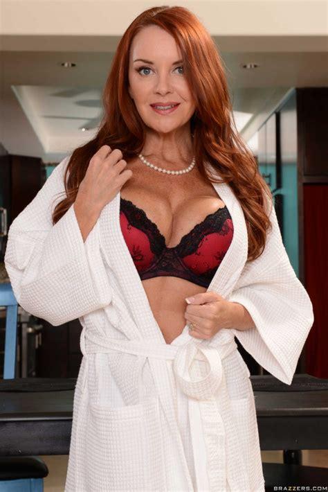 Janet Mason Busty Redhead Milf Strips Down Milf Dp