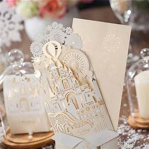 10 pieces lot wishmade wedding decoration 3d castle With cheap pop up wedding invitations