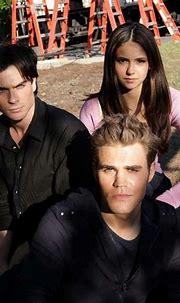 Elena Gilbert, Stefan Salvatore and Damon Salvatore (Nina ...