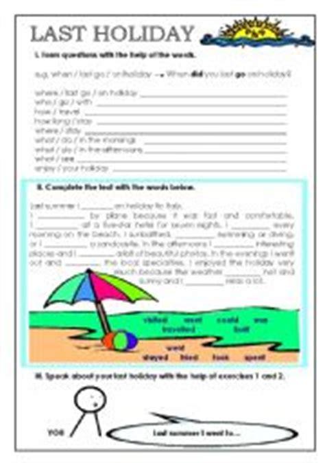 english exercises  simple  holidays
