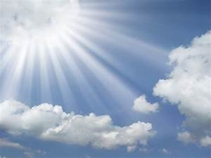 Sun Rays Coming Out Of The Clouds In A Blue Sky Wallpaper ...