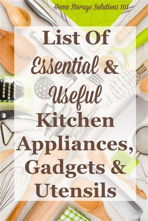 Essential Gadgets & Small Kitchen Appliances List