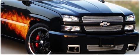 03-04 Chevy Silverado Hd Custom Chrome Grilles