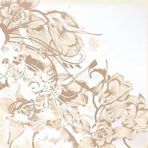 elegant wedding background with floral pattern for design With elegant floral wedding invitations vector
