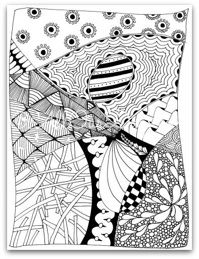 zendoodle coloring page  kids  adults doodle books coloring pages  kids