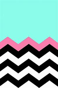 Teal black and pink chevron stripes | Wallpapers ...