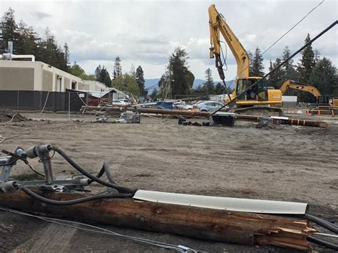 contractor knocks  poles causing south bay power