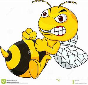 Angry Bee Clipart - Clipart Suggest