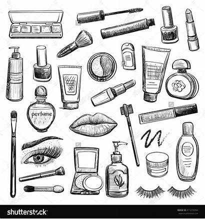 Makeup Drawing Sketches Cosmetics Sketch Eye Desenho