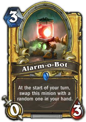 alarm o bot mage deck alarm o bot hearthstone cards