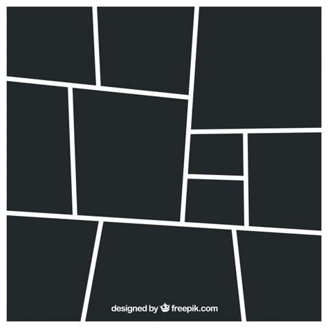 schwarze fotorahmen collage vorlage  der