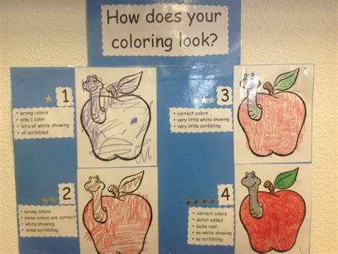 fun coloring rubric   kids clasroom