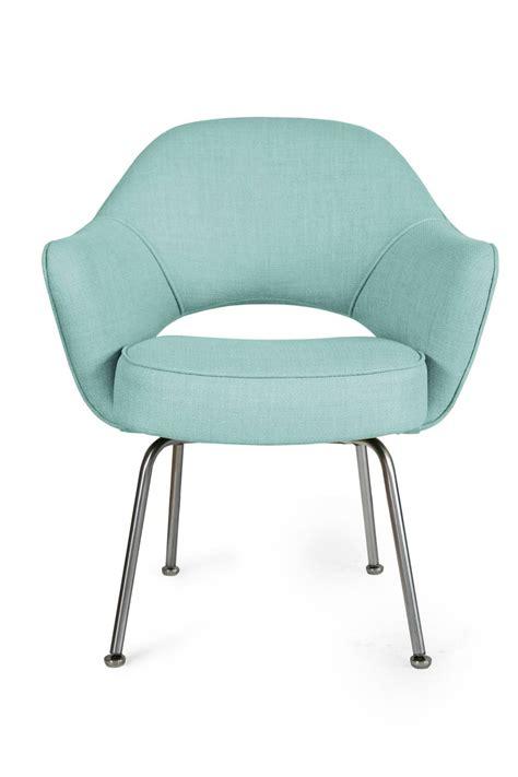saarinen executive armchairs in powder blue woven