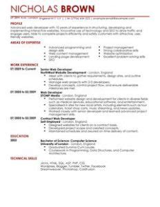 Web Developer Cv Sle by Junior Web Developer Resume Template Business