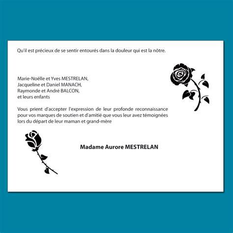 modele carte remerciement deces carte de remerciement d 233 c 232 s 224 personnaliser inspir 233 es de